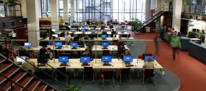 Computerarbeitsplätze in der Bib
