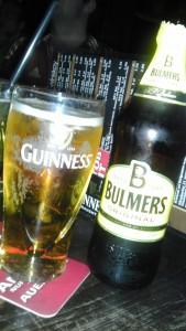 Getränke im Irish Pub