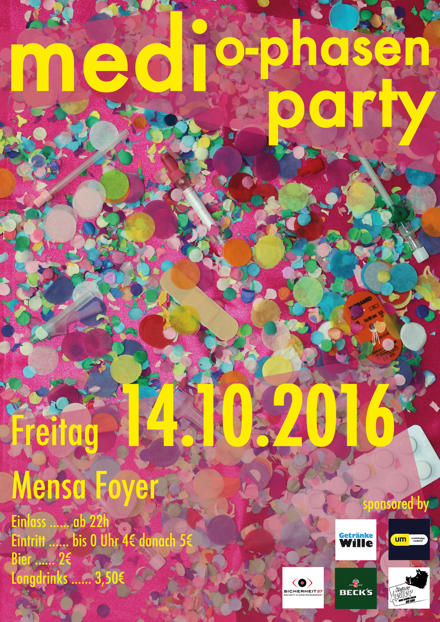 Medi O-Phasen Party im Z-Mensa Foyer – Unabhängige Mediziner