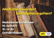 Bücherbasar am 20.04.2017 von 10-14 Uhr in der Osthalle des Klinikums