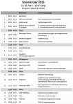 Programm Science Day Klinik für Psychiatrie und Psychotherapie